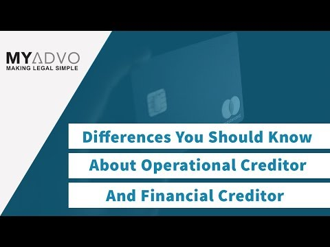 Differences You Should Know About Operational Creditor and Financial Creditor