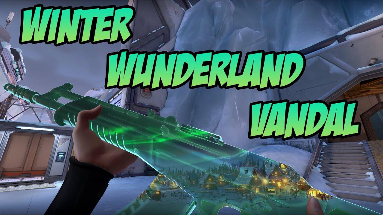 WINTER WONDERLAND VANDAL SKIN GAMEPLAY   VALORANT WINTER WUNDERLAND SKINS