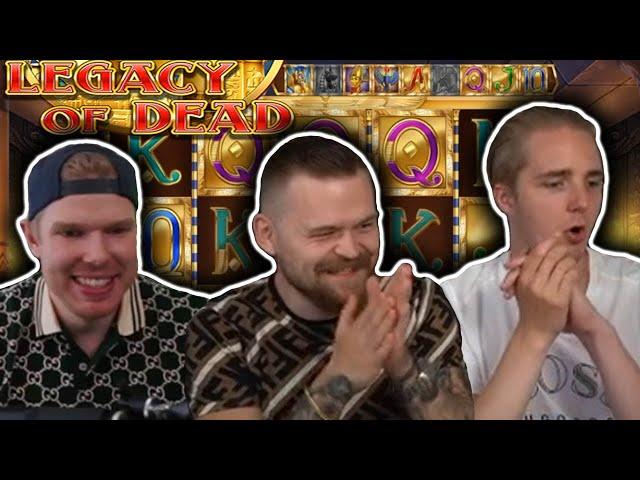 BIG WIN on LEGACY OF DEAD - Casino Slots Big Wins