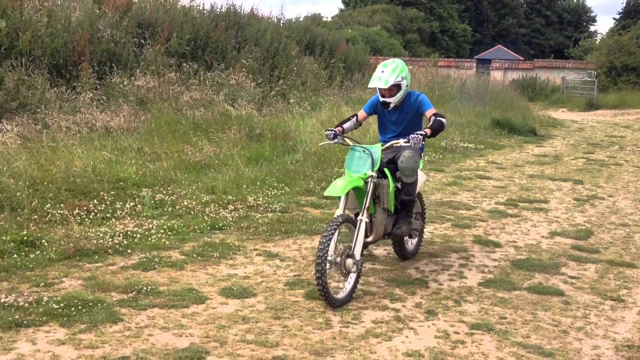 Kx 85 First Time Learning To Ride A Motorbike Youtube