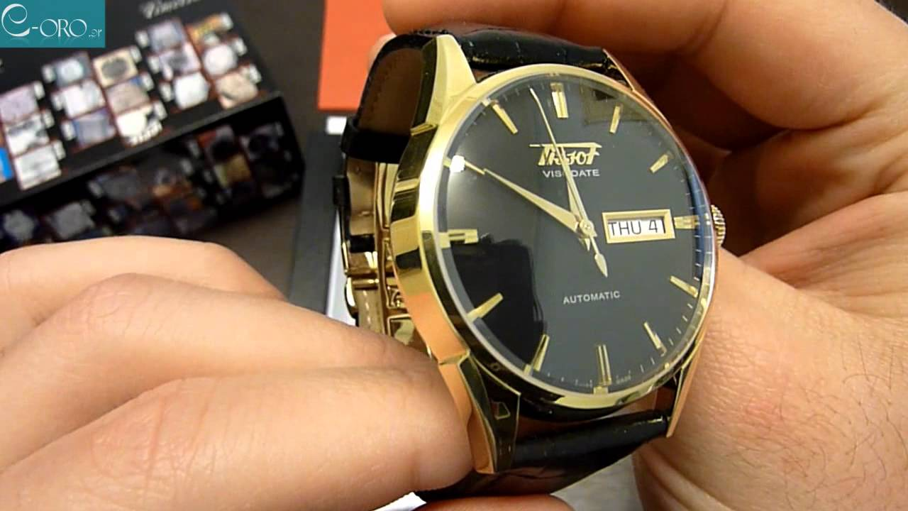 7fa51b003 TISSOT Visodate Automatic Mens Watch T0194303605100 - E-oro.gr - YouTube