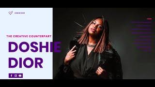 The Creative Counterpart: Doshie Dior Web Design