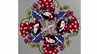 Rangoli designs..japan dolls...latest N creative 13 to 5 dots