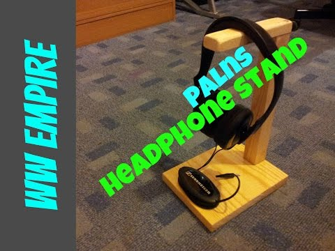 How to make a wooden headphone stand