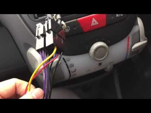 Toyota aygo/citroen C1/peugeot 107 after market radio wiring installation