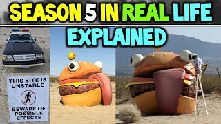 FORTNITE SEASON 5 IN REAL LIFE! TOMATO HEAD SPOTTED?! - DURRR BURGER EXPLAINED (Season 5 StoryLine)