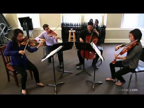 Afiara String Quartet rehearses