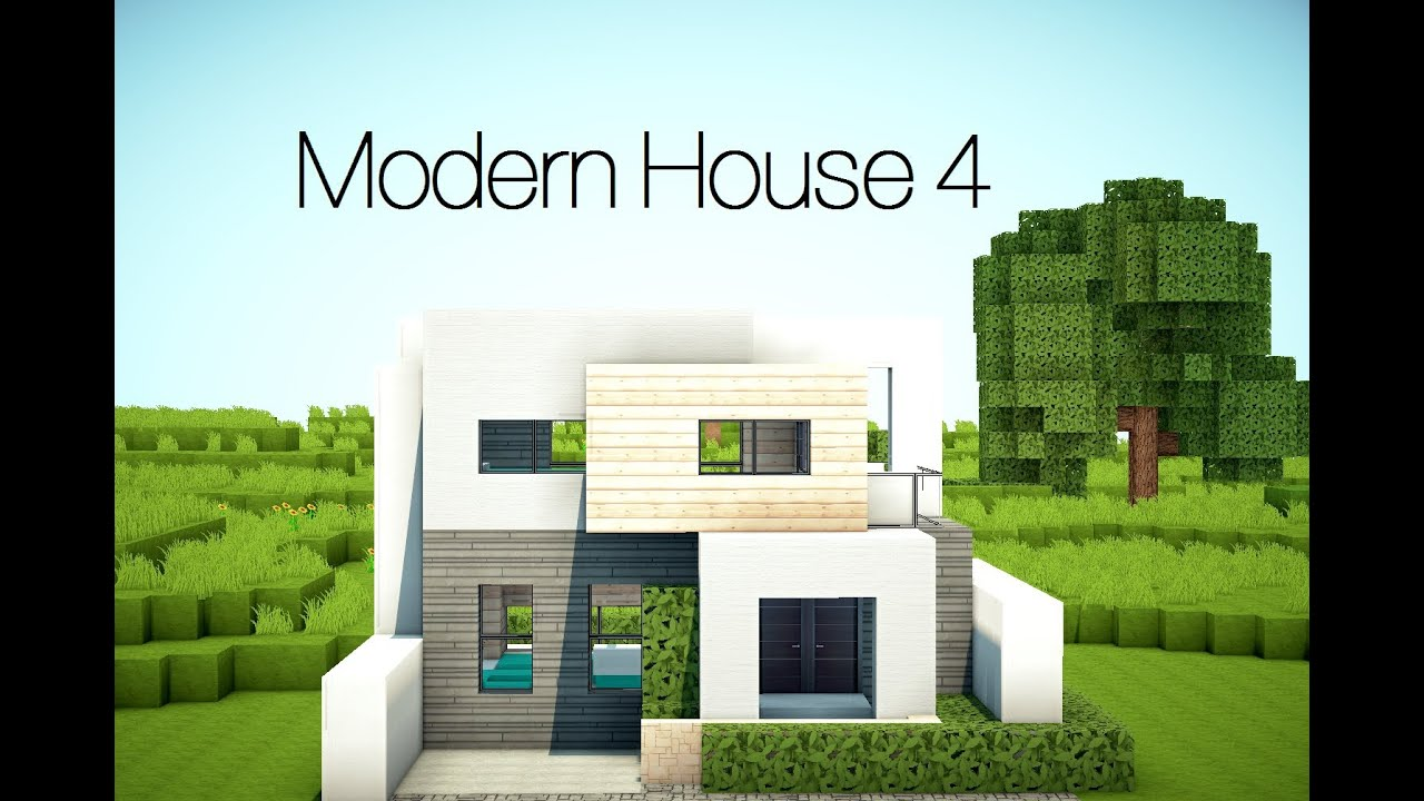 minecraft modern house 4 youtube