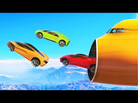 EXTREME CARS vs. PLANE RACE! (GTA 5 Funny Moments)