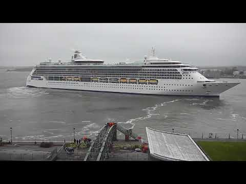 The  Brilliance of the Seas departed from  Cobh Cruise Terminal on Wednesday April 18- 2018..