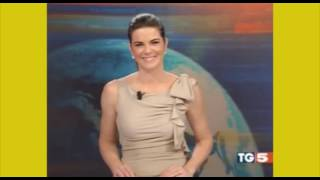 Italian TV Presenter  Costanza Calabrese Shows Off Her Underwear During Live News Broadcast