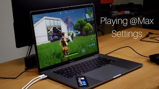 Playing Fortnite On 2018 MacBook Pro Base Model 15