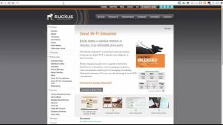 configuring a master access point for ruckus unleashed