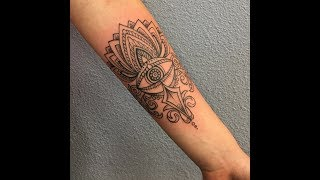 TIMELAPSE original evil eye lotus tattoo by AMERICANDEBBIE