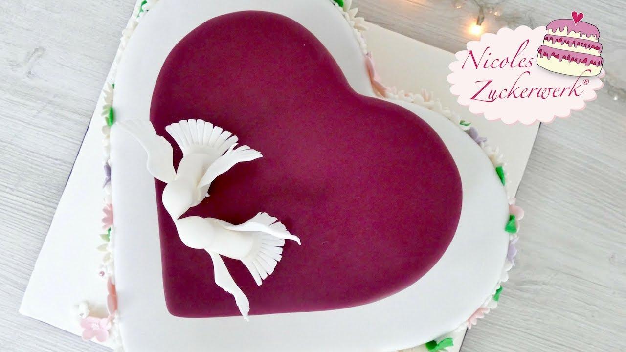 Hochzeitstorte Teil 2 I Zweistockige Herz Torte I Von Nicole