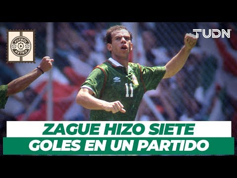 Futbol Retro: ¡El partido en que Zague anotó 7 goles! | México 9 - 0 Martinica | CopaOro 1993 | TUDN