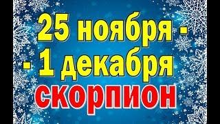 СКОРПИОН  неделя с 25 ноября по 1 декабря. Таро прогноз