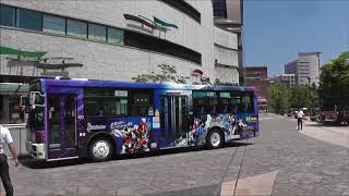 仮面ライダービルド ラッピングバス 西鉄バス 小9413