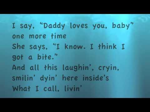 Just Fishin'- Trace Adkins (Lyrics)
