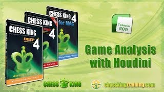 Chess King 4 Tutorial 09 - Game Analysis with Houdini in Chess King 4 for PC/Mac