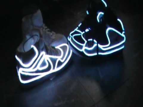 Musica Tribal NEW!! light up JOrdans n air forces shoes - YouTube 3a398dcd4