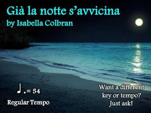 Già la notte s'avvicina by Colbran Note-Learning Guide