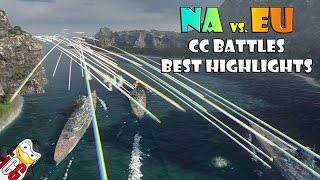 Best World of Warships NA vs. EU CC Battle Highlights