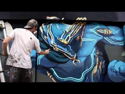 """""""Warframe"""" Mural in LA! - Kiptoe"""