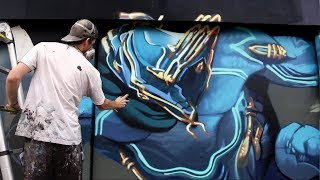 Warframe Mural w Los Angeles! - Kiptoe