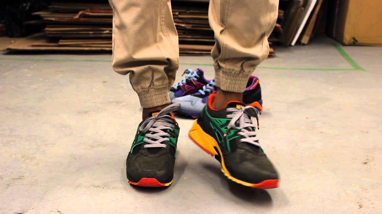 asics gel kayano trainer on feet