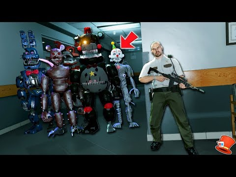 Can YOU SURVIVE a Night with the EVIL ANIMATRONICS? (GTA 5 Mods FNAF RedHatter)