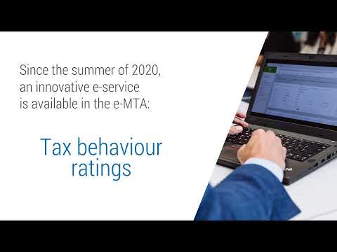 Tax behaviour ratings e-service