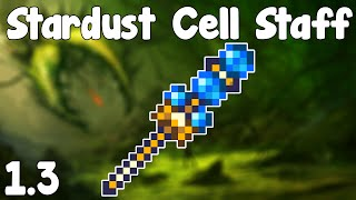 Terraria 1.3 - Stardust Cell Staff,  Glorious Cells! - Terraria 1.3 Guide New Summoner Weapon