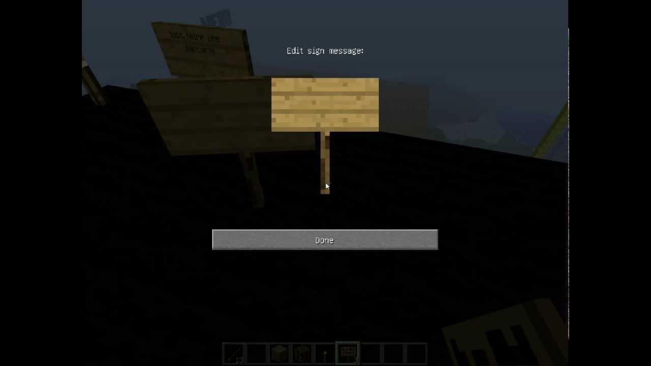 Tuto minecraft faire une pancarte youtube - Comment faire une chambre moderne minecraft ...