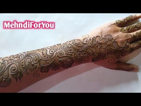SHADED ARABIC MEHNDI DESIGN || FULL HAND ARABIC HEENA DESIGN || BACK HAND MEHNDI DESIGN