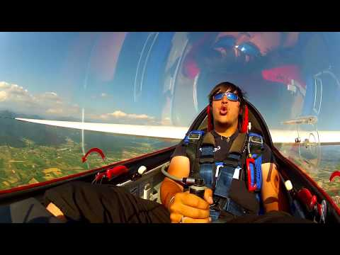 "EPIC !""INSANE World Champion"" Glider Aerobatic Pilot Luca Bertossio CITIZEN Watches