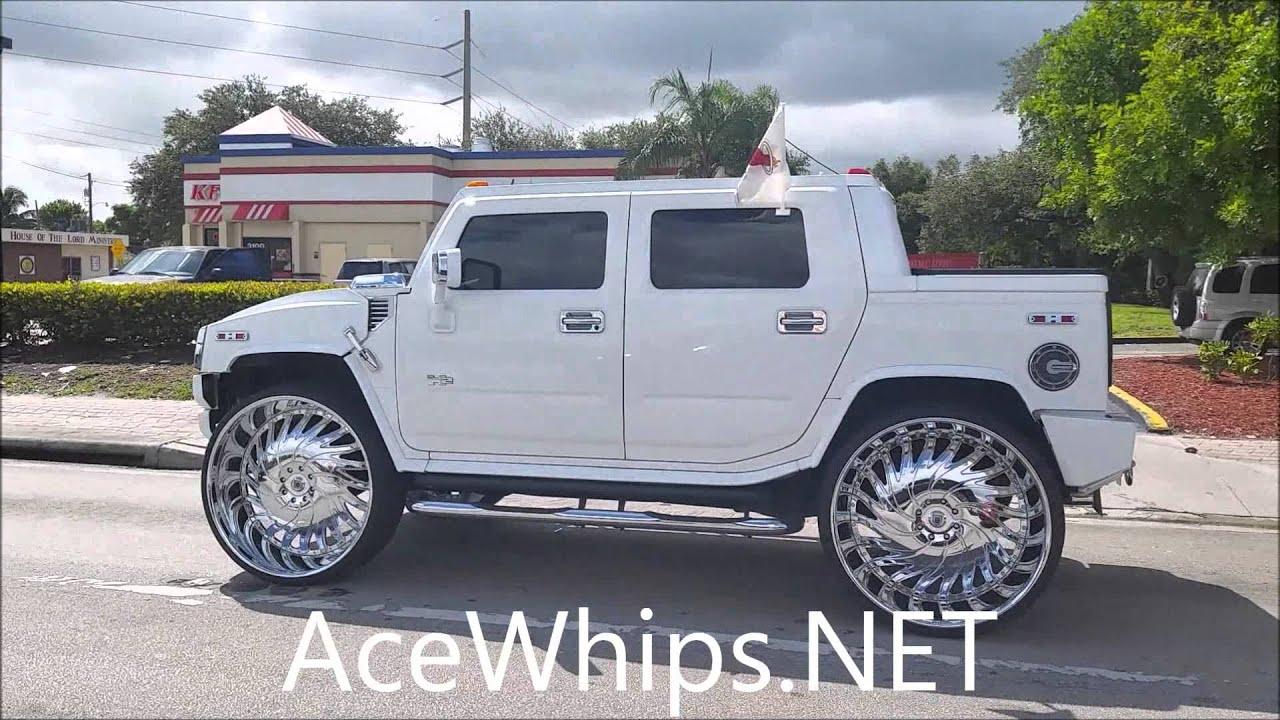 """AceWhips NET Hummer H2 on 34"""" Asantis Slidin"""