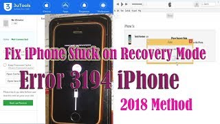 How to Fix iPhone Stuck on Recovery Mode &  Error 3194 iPhone Restore Fix