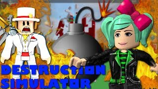 Elmo, Poop Snapchats and Chicken Cannons?!? Roblox Destruction Simulator