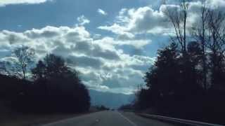 Drive from Valley and Ridge into the Blue Ridge Province near TN/NC border