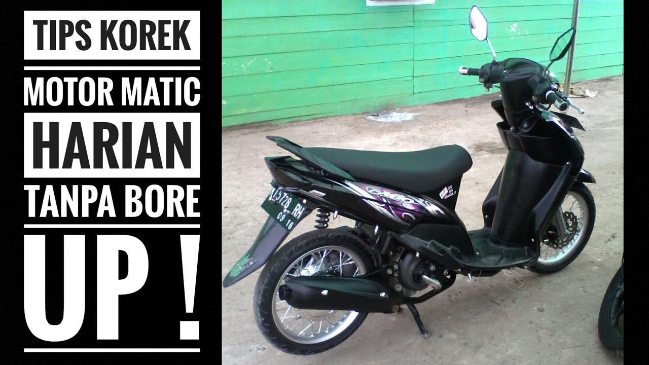 motovlog #35: tips korek harian motor matic tanpa bore up! - youtube