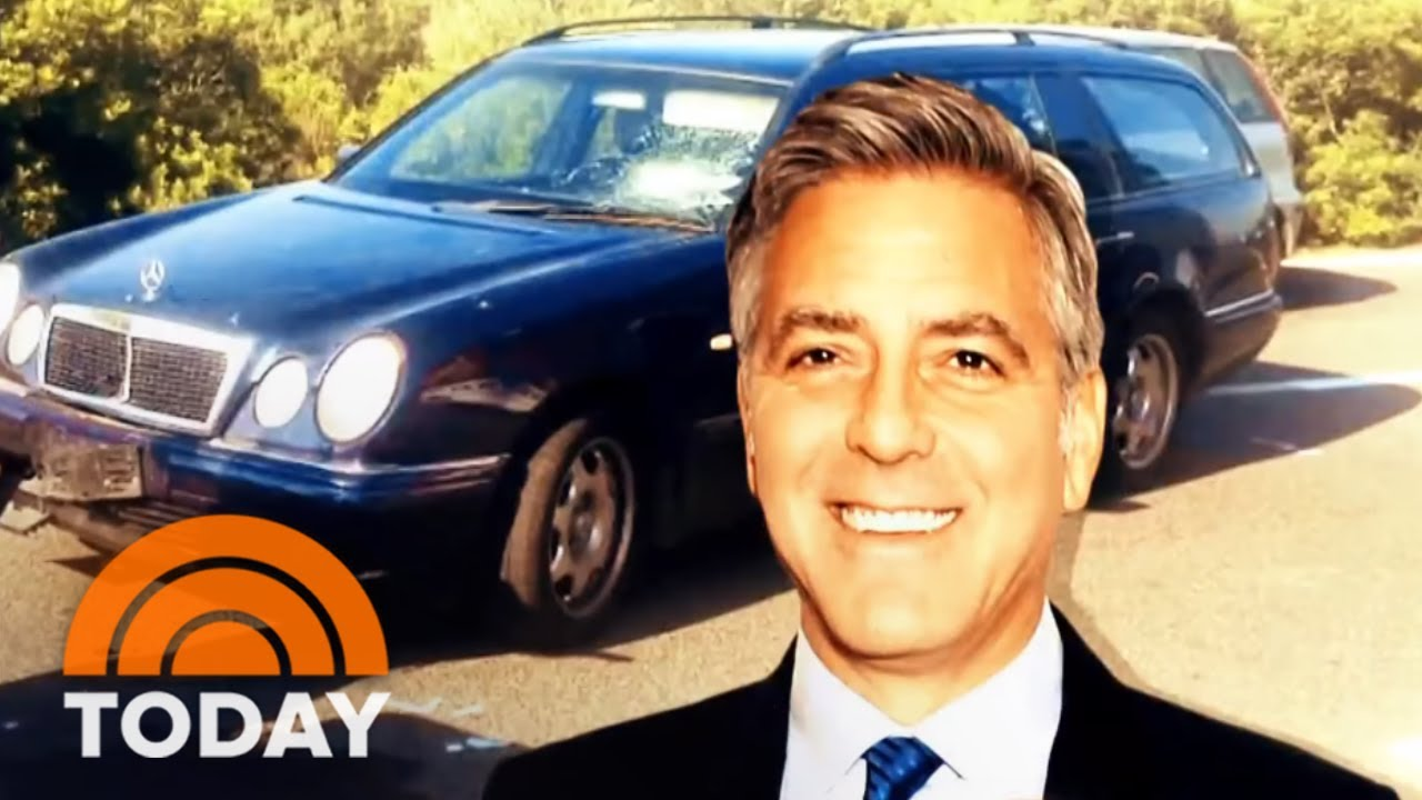 Surveillance video shows George Clooney's motorcycle crash in Italy
