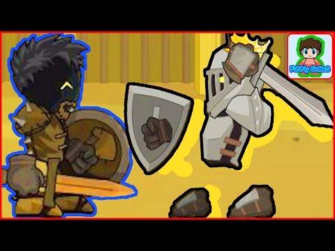 sword and souls  мультик игра для детей Про воина Мечи и души От фаника. Сражение с рыцарем Боссом