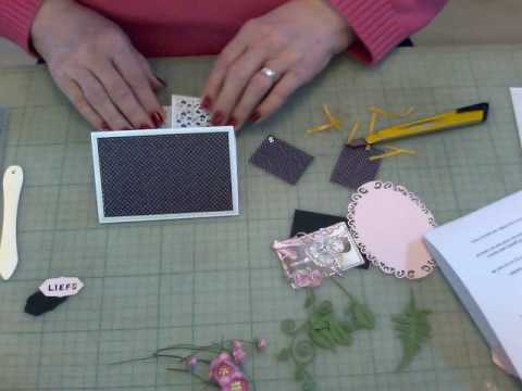 Double Dutch fold card in centimeters