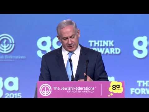 Camera-Ready makeup for Israel Prime Minister Benjamin Netanyahu Addresses the JFNA GA 2015