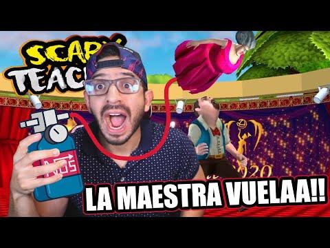 MI MAESTRA LOCA VUELA COMO GLOBO | Scary Teacher 3D Capitulo 16 | Juegos Luky