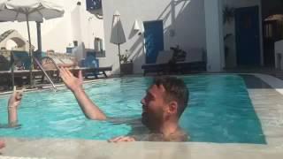 Santorini, sol og sindssyge æseldrivere mikro-vlog