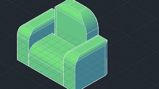 3d Sofa - Autocad 2013 / 2014 (basic)
