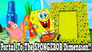 Minecraft How To Make A Portal To The SpongeBob Dimension - SpongeBob Dimension Showcase!!!