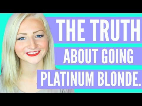 THE TRUTH ABOUT GOING PLATINUM BLONDE.